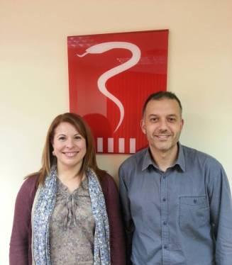 Ana Roca i David Arribas, secretària i president del sector Primària ICS.