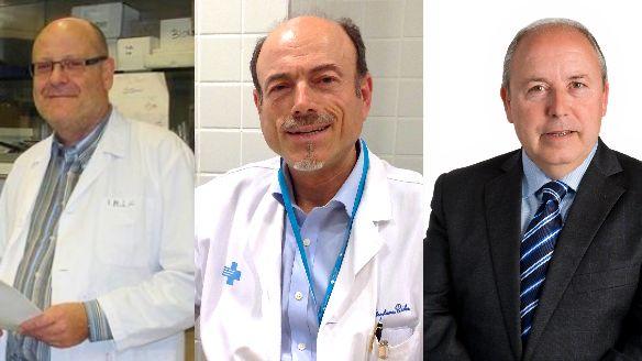 D'esquerra a dreta: Narcís Bardalet, Josep Vilaplana i Joan Felip.
